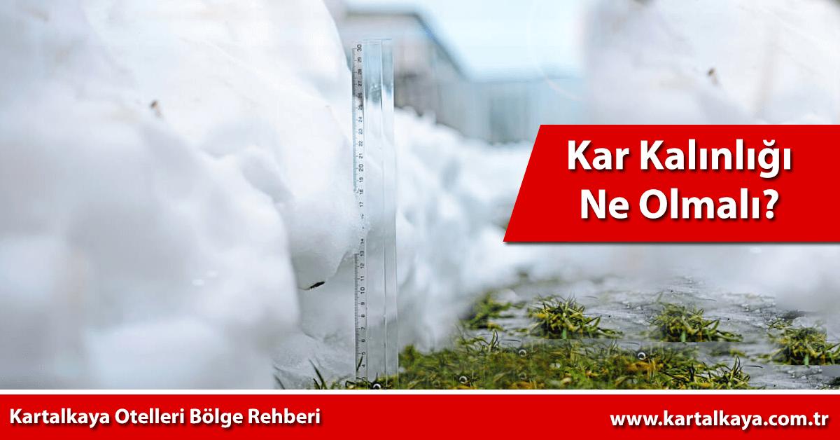 kartalkaya kar kalınlığı